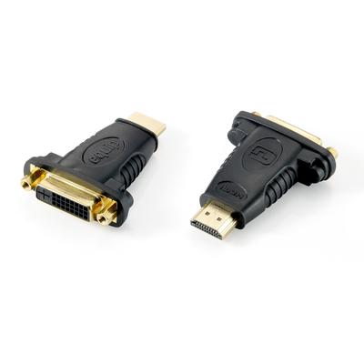 Equip HDMI to DVI-D Dual Link Adapter Kabel adapter - Zwart