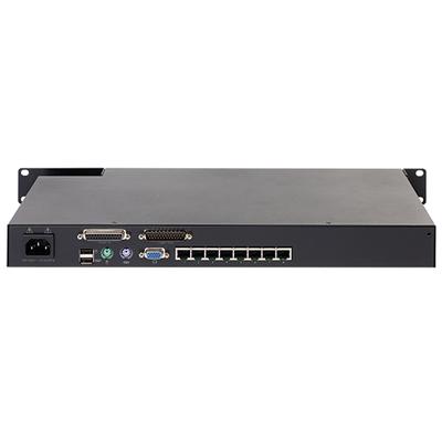 APC KVM0108A, 1U, KVM 2G, Analog, 1 Local User, 8 ports, Zwart KVM switch