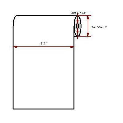 Datamax o'neil thermal papier: Premium 4.40' x 52'