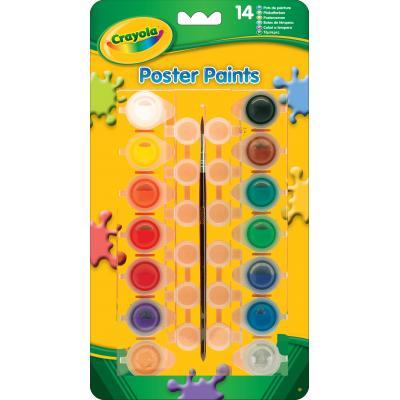 Crayola verf: 14 potjes plakkaatverf - Multi kleuren