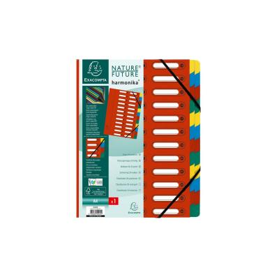 Exacompta indextab: Harmonika Nature Future, 24 vakken, rood - Veelkleurig, Rood