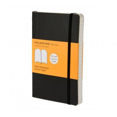 Moleskine schrijfblok: Ruled Soft Notebook - Pocket - Zwart