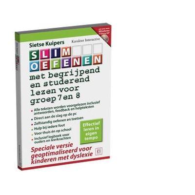 Karakter educatieve software: Slim Oefenen, Met begrijpend lezen (Dyslexi Versie) voor Groep 7 en 8