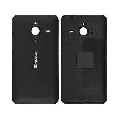 Microspareparts mobile mobile phone spare part: Mobile Back Cover - Black - Zwart