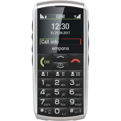 Emporia Classic mobiele telefoon - Zwart, Grijs