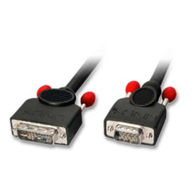 Lindy 3m DVI-A/VGA Cable - Zwart
