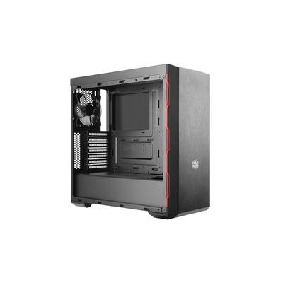Cooler Master MasterBox MB600L Behuizing - Zwart, Rood