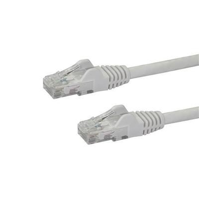 StarTech.com 0,5 m Cat6 UTP met snagless RJ45 connectoren UTP patchkabel wit 0,5m Netwerkkabel