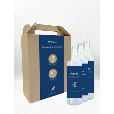 Prowise Screen Cleaning Kit | Natural formula | 3x240ml Bordenwisser