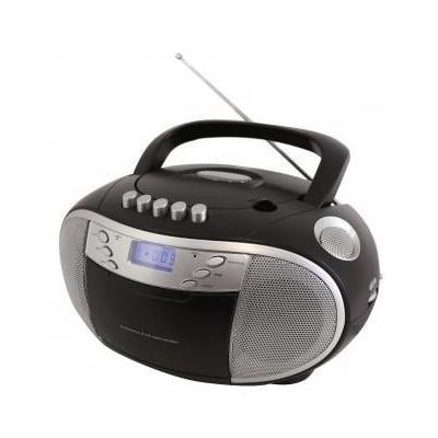 Soundmaster CD-radio: CD Boombox @ AM/FM Radio & Cassette-Player, Black - Zwart