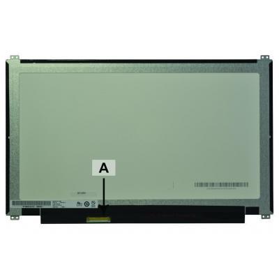 """2-power notebook reserve-onderdeel: 33.782 cm (13.3 """") 1366x768 HD+ Matte - Zwart, Groen"""