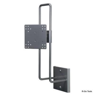 R-go tools montagehaak: Steel Up & Down Muurbeugel, verstelbaar, zilver
