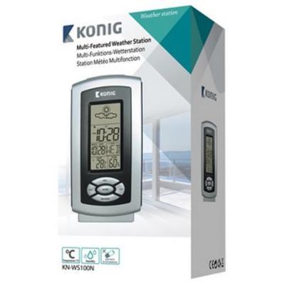 König weerstation: Thermo hygrometer weather station - Grijs