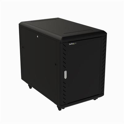 "StarTech.com 19 inch 15U serverkast 32"" diep 800 kg max afsluitbare behuizing 4-stijlen, zwenkwielen, en ....."