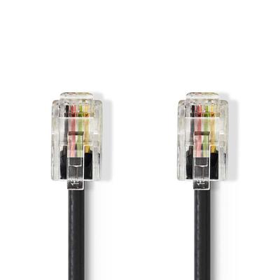 Nedis Netwerkkabel, RJ10 male - RJ10 male, 5,0 m, Zwart Telefoon kabel
