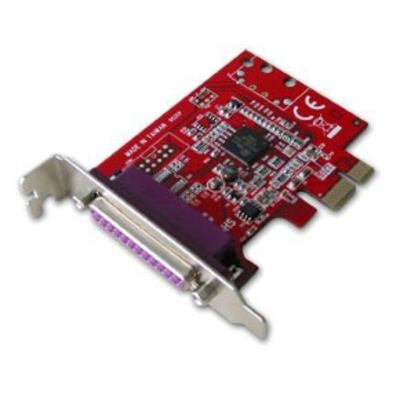 Lindy 1-Port PCIe Parallel Card Interfaceadapter - Rood