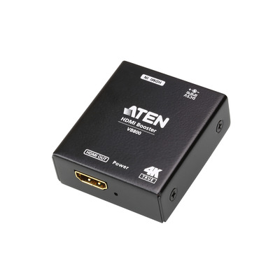 Aten TRUE 4K HDMI BOOSTER WITH 4K2K UP TO 20M - CASCADE AV extender - Zwart