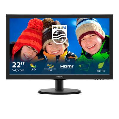 Philips V Line LCD-met SmartControl Lite 223V5LHSB/00 Monitor - Zwart