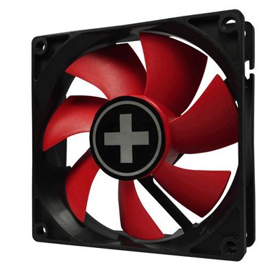 Xilence XPF80.R.PWM Hardware koeling - Zwart, Rood