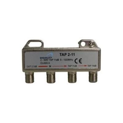 Digiality kabel splitter of combiner: 2-way tap 2.7/11 dB 5-1000 MHz