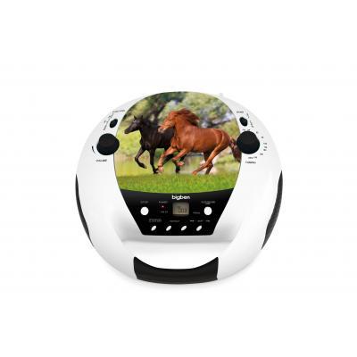 Bigben interactive CD speler: Draagbare radio / CD speler met paardendesign - Multi kleuren
