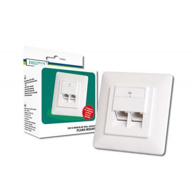 Digitus kabel connector: Modular Wall Outlet CAT5e