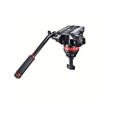 Manfrotto statiefkop: Pro Video - Zwart, Rood