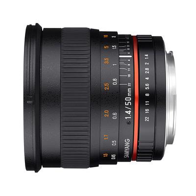 Samyang camera lens: 50mm F1.4 Canon
