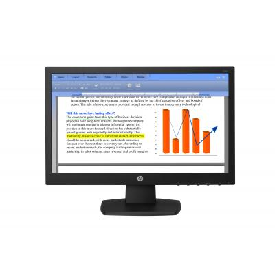 """HP V194 18,5"""" HD TN Monitor - Zwart"""