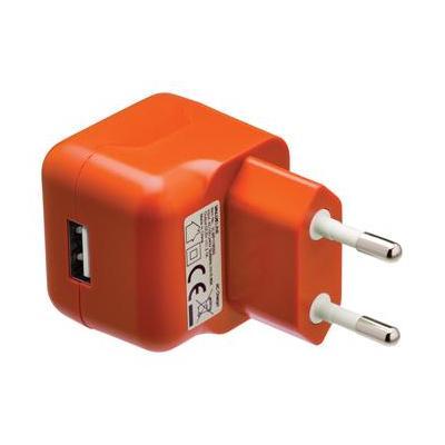 Valueline USB AC charger USB A female - AC home connector orange Oplader - Oranje
