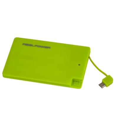 Realtron batterij: RealPower PB-2500 Slim - met Lightning Adapter (Lime Groen)