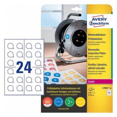 Avery L7804-10 Etiket - Wit