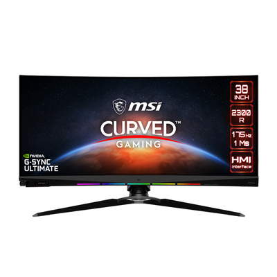MSI Optix MEG381CQR PLUS Monitor - Zwart