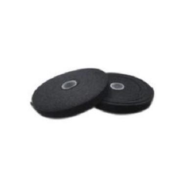Microconnect plakband: Velcro tape on roll, Black - Zwart