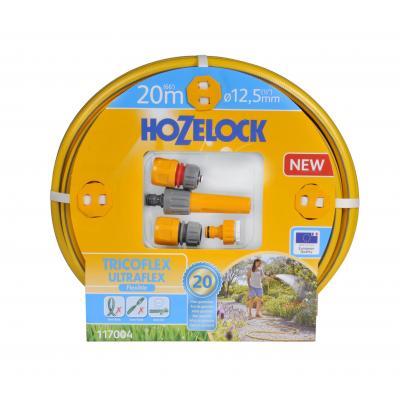 Hozelock tuinslang: Tricoflex Ultraflex slangset Ø 12,5 mm 20 meter inclusief startset koppelingen & tuinspuit - .....