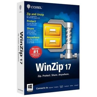 Corel WinZip 17, 1Y, 50000 - 99999U, EDU Algemene utilitie