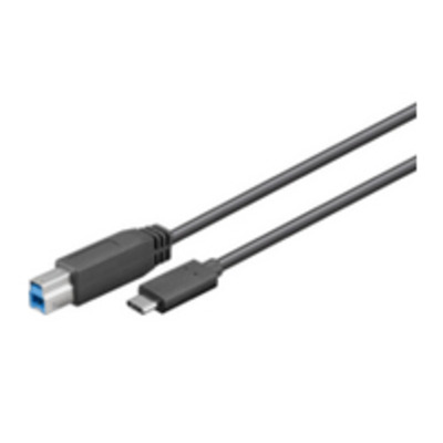 Microconnect USB 3.1 SuperSpeed 1m M-M USB kabel - Zwart