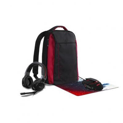 Acer NP.BAG11.00V+NP.MCE11.00G+NP.MSP11.00D+NP.HDS1A.008 laptoptas - Zwart, Rood