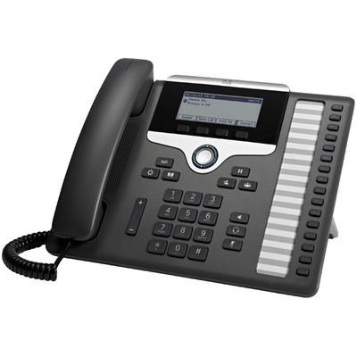 Cisco IP telefoon: 7861 - Zwart, Zilver