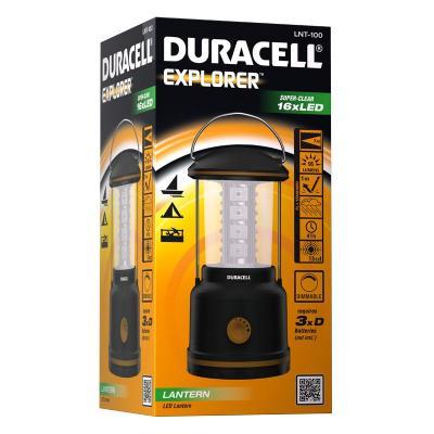 Duracell zaklantaarn: EXPLORER - Zwart