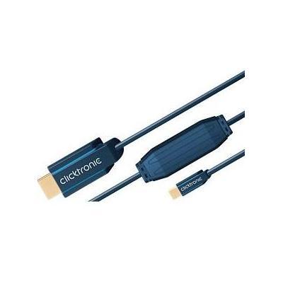 ClickTronic 2m miniDisplayPort/HDMI m/m - Blauw