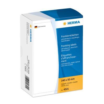Herma etiket: Frankeer-etiketten dubbel 140x50 500 St.