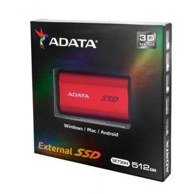 Adata : SE730H 512GB - Rood