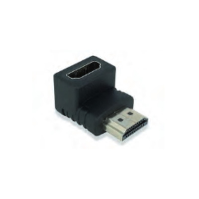 Ewent Adapter HDMI A male --> female, Angled 90° down Kabel adapter - Zwart