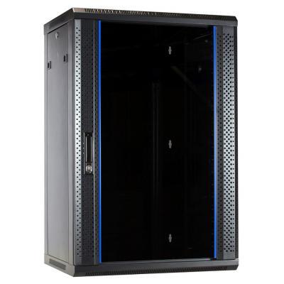 DS-IT 18U wandkast met glazen deur 600x450x900mm Rack