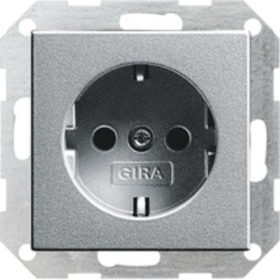 GIRA met randaarde 16 A, 250 V~, kleur aluminium Wandcontactdoos