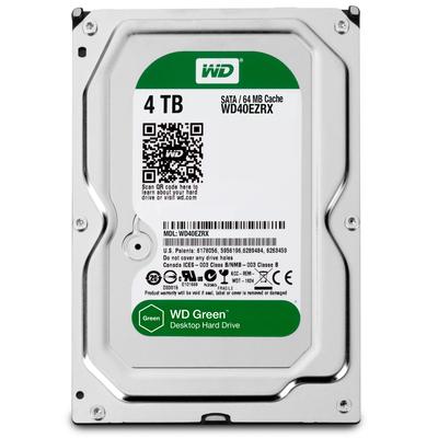Western Digital Green 4TB Interne harde schijf - Zwart - Refurbished ZG