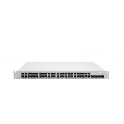 Cisco switch: Meraki MS225-48LP L2 Stck Cld-Mngd 48x GigE 370W PoE Switch - Grijs
