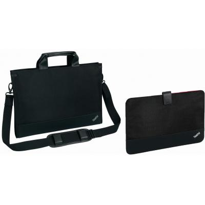 Lenovo laptoptas: ThinkPad 14W Ultrabook Topload & Standard Sleeve Set - Black - Zwart