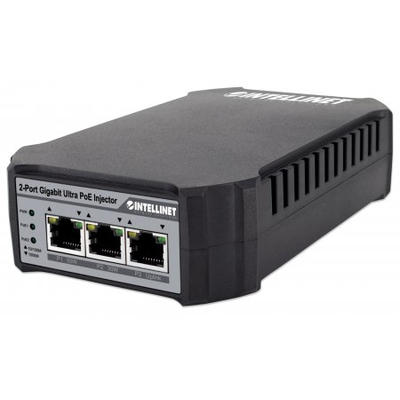 Intellinet 2-Port Gigabit Ultra PoE-Injector 10/100/1000 Mbit/s (Euro 2-pin plug) PoE adapter